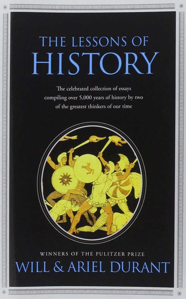 The Lessons of History Book by Will and Ariel Durant